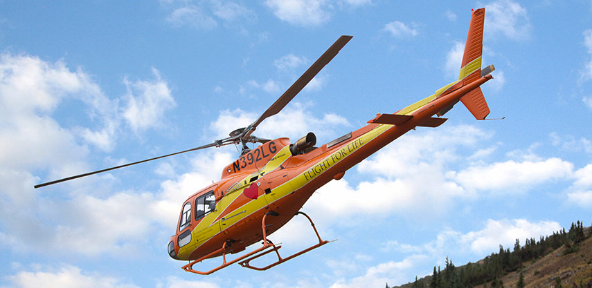 Helicopter in Flight For Life Colorado fleet