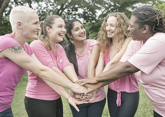 diverse group of breast cancer survivors