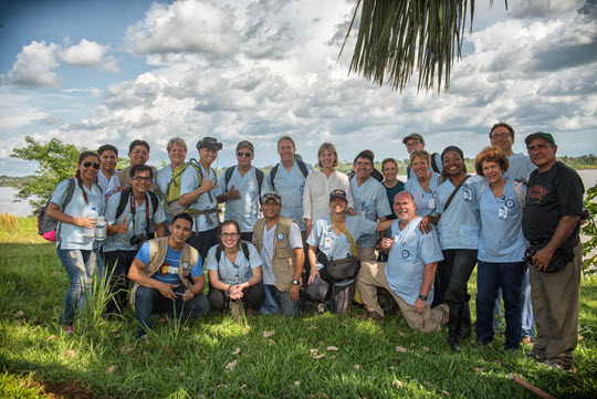 2015 Global Health Initiatives' medical team in Peru's Amazon basin.
