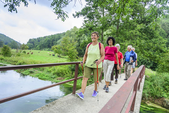 Older adults on a hike