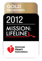 American heart association gold receiving award 2012