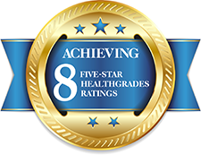 Eight Five-Star Ratings from Healthgrades