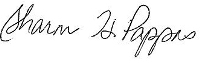 Sharon Pappas' Signature