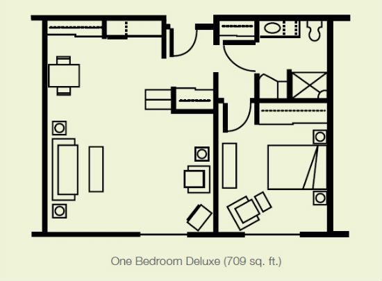 One Bedroom Deluxe Layout