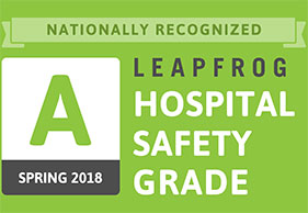The Leapfrog Group in Spring of 2018 for patient safety and quality.
